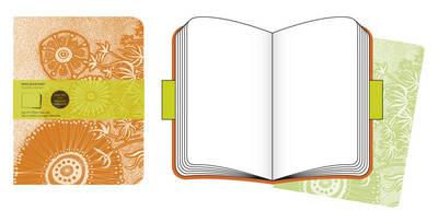 Moleskine Cover Art Flower Fantasy Plain Journal