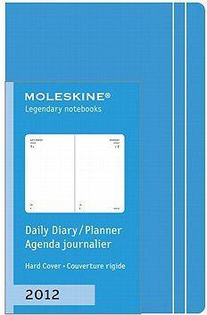 2012 Moleskine Extra Small Sky Blue Daily Diary 12 Month Har
