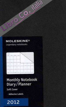2012 Moleskine Large Monthly Notebook 12 Month Soft.