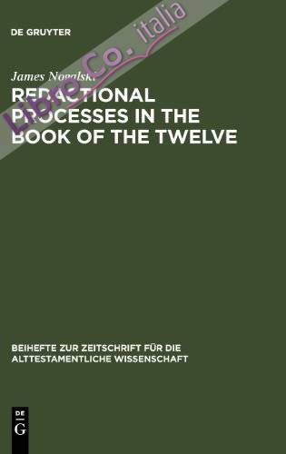 Redactional Processes in the Book of the Twelve