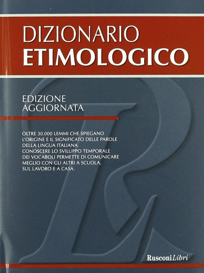 Dizionario etimologico.