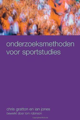 Onderzoeksmethoden Voor Sportstudies