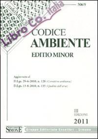 Codice ambiente. Ediz. minore