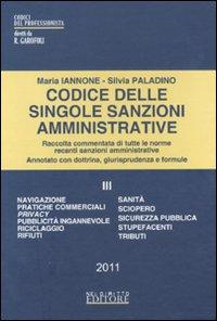 Codice delle singole sanzioni amministrative. Vol. 3