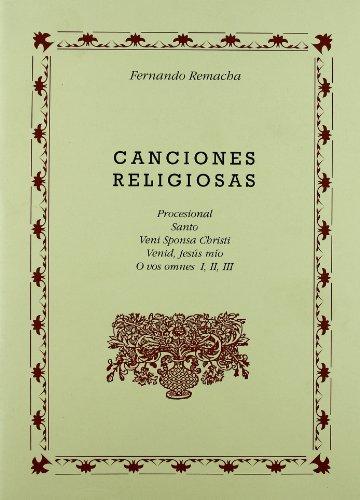Canciones religiosas [musica impresa! (musica de fernando remacha [mus