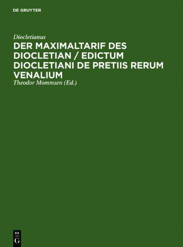Der Maximaltarif des Diocletian