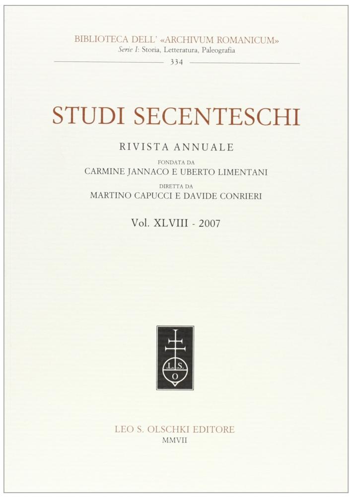 Studi secenteschi. Vol. 48