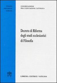 Decreto di riforma degli studi ecclesiastici di filosofia