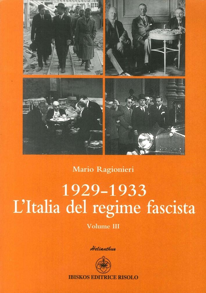 1929-1933. L'Italia del Regime Fascista.