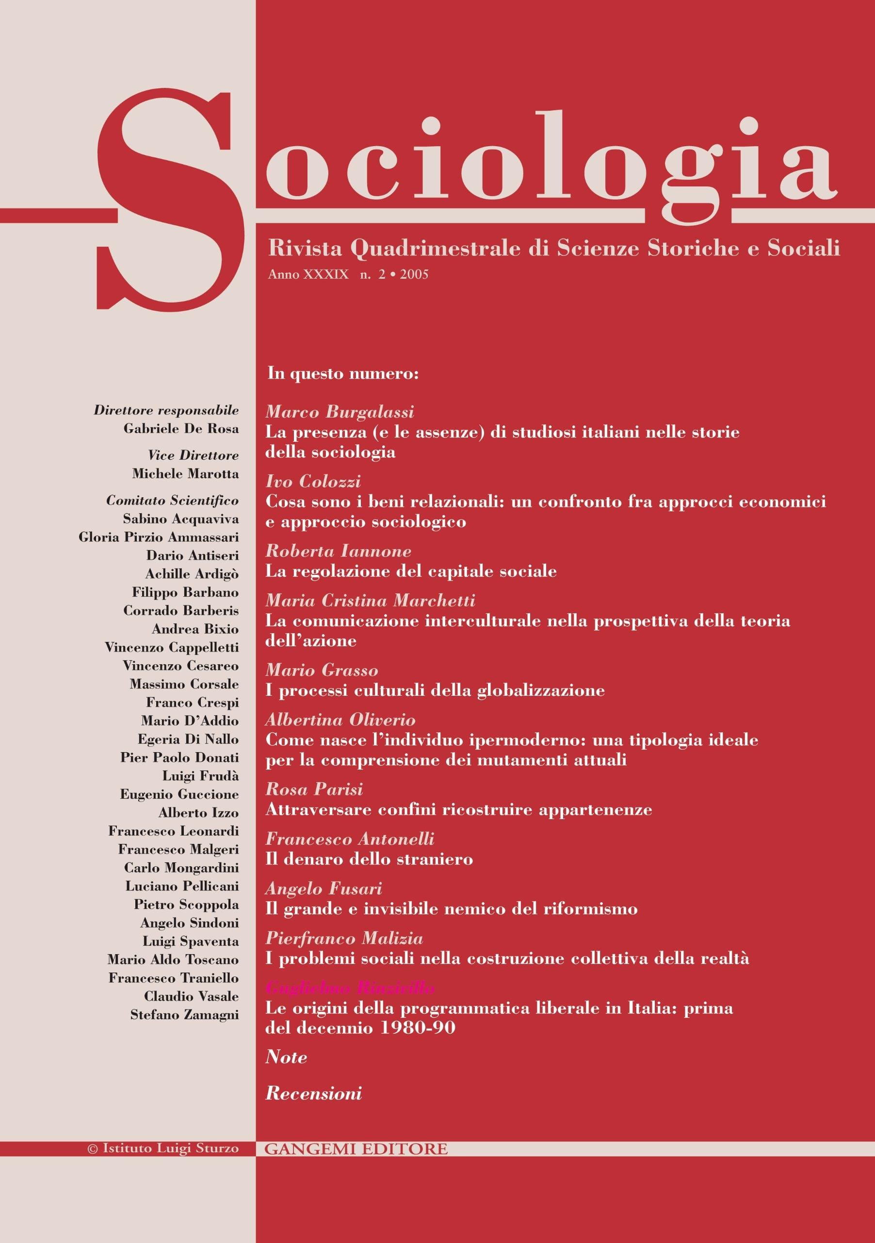 Sociologia n. 2/2005