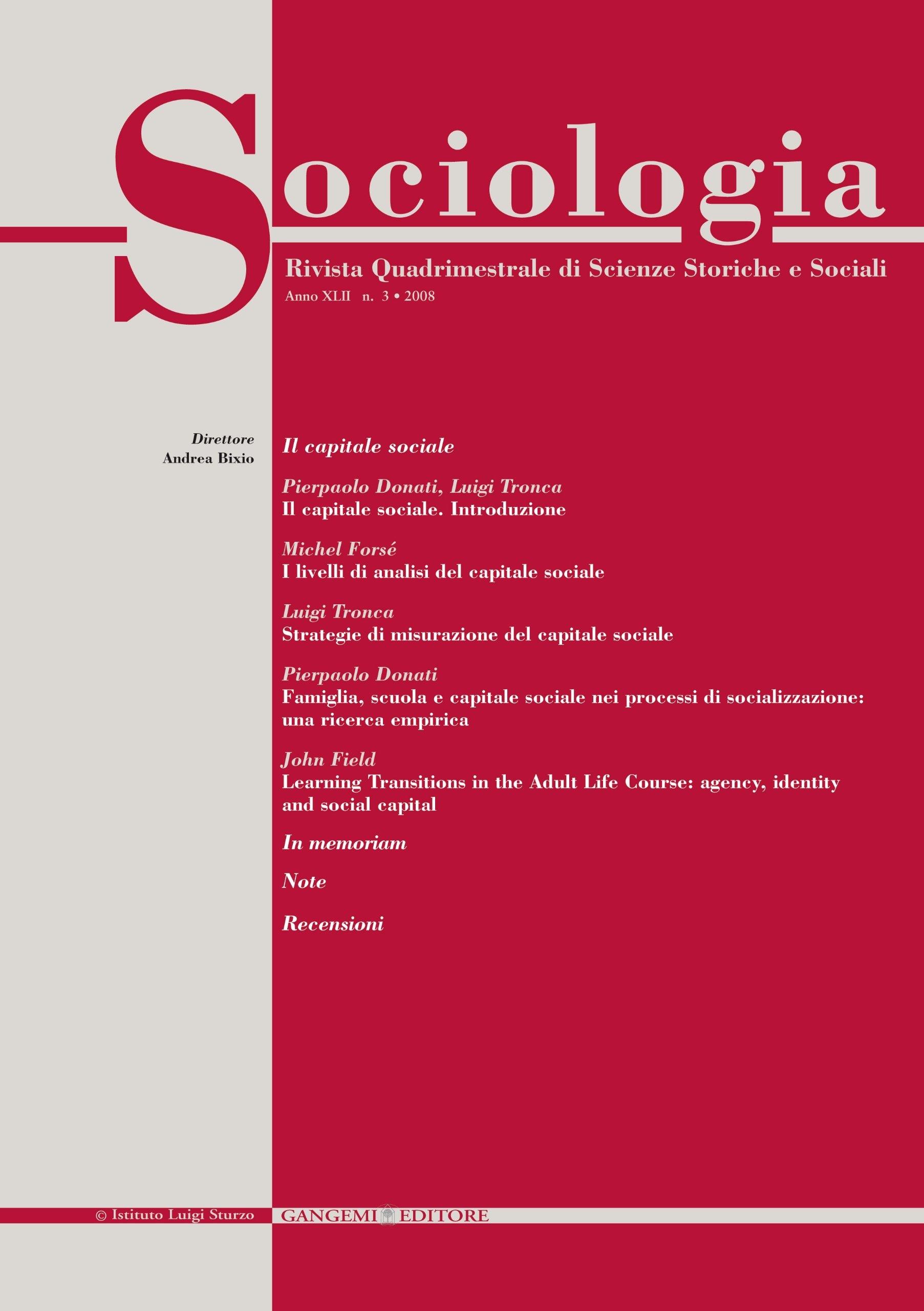 Sociologia n. 3/2008.