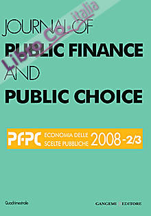 Journal of Public Finance and Public Choice n. 2-3/2008