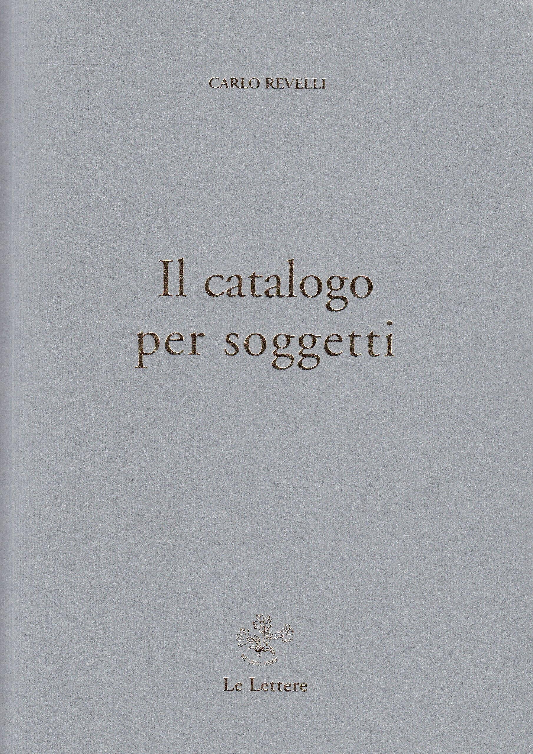 Il catalogo per soggetti