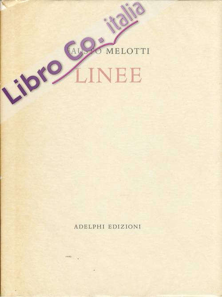 Fausto Melotti. Linee.