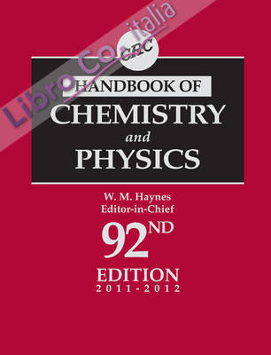 CRc Handbook of Chemistry and Physics.