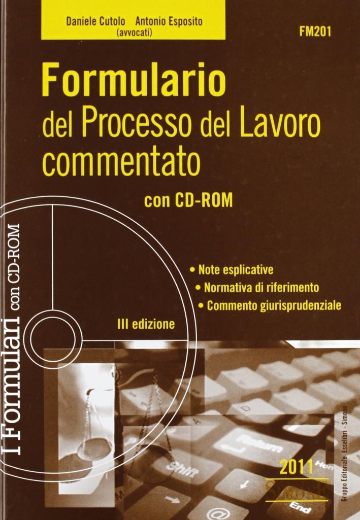 Formulario del processo del lavoro commentato. Con CD-ROM.