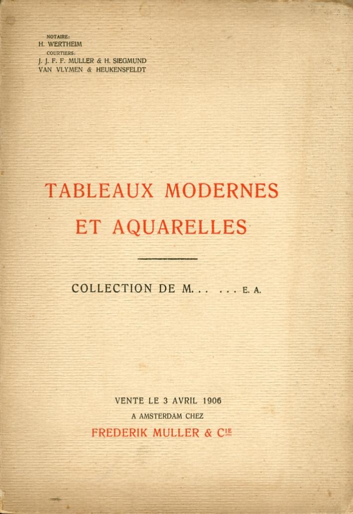 Tableaux Modernes et Aquarelles.