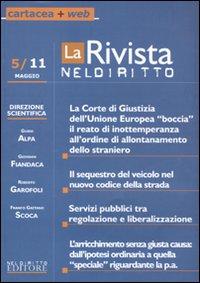 La rivista di Neldiritto (2011). Vol. 5