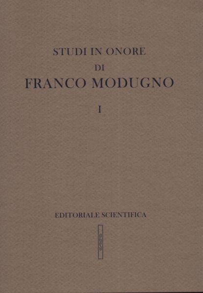 Studi in onore di Franco Modugno
