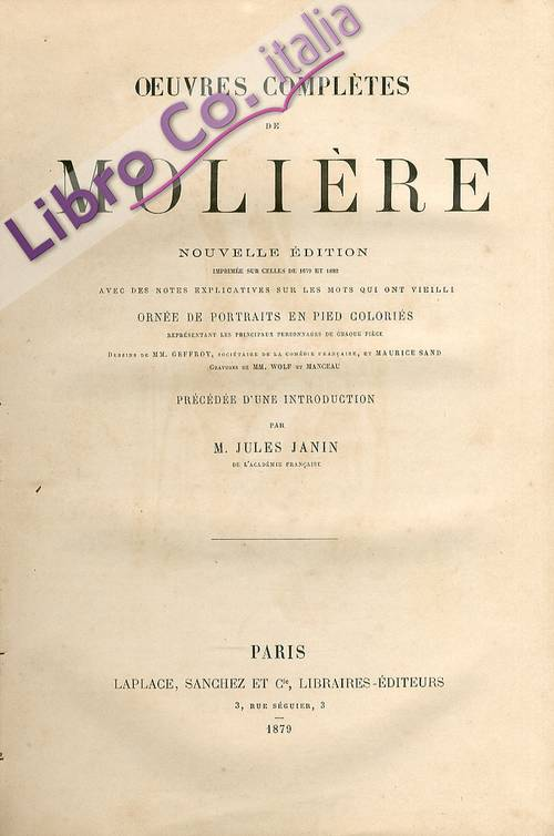Oeuvres Completes de Moliere
