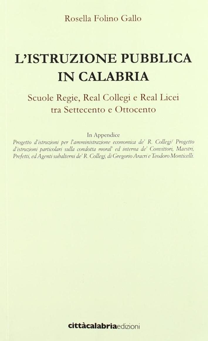 L'istruzione pubblica in Calabria