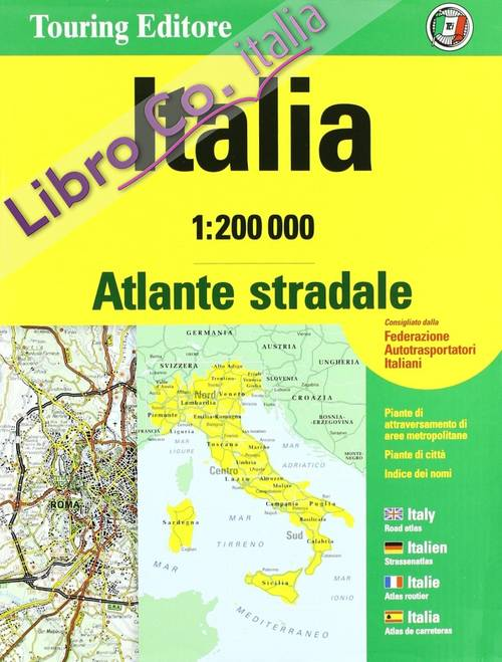 Atlante stradale Italia 1:200.000. Cofanetto.