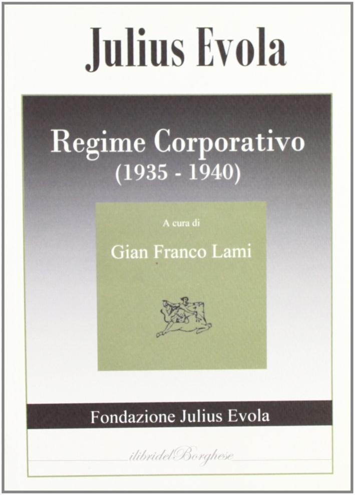 Regime corporativo (1935-1940).