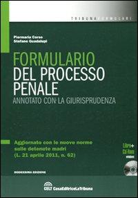 Formulario del processo penale. Annotato con la giurisprudenza. Con CD-ROM.