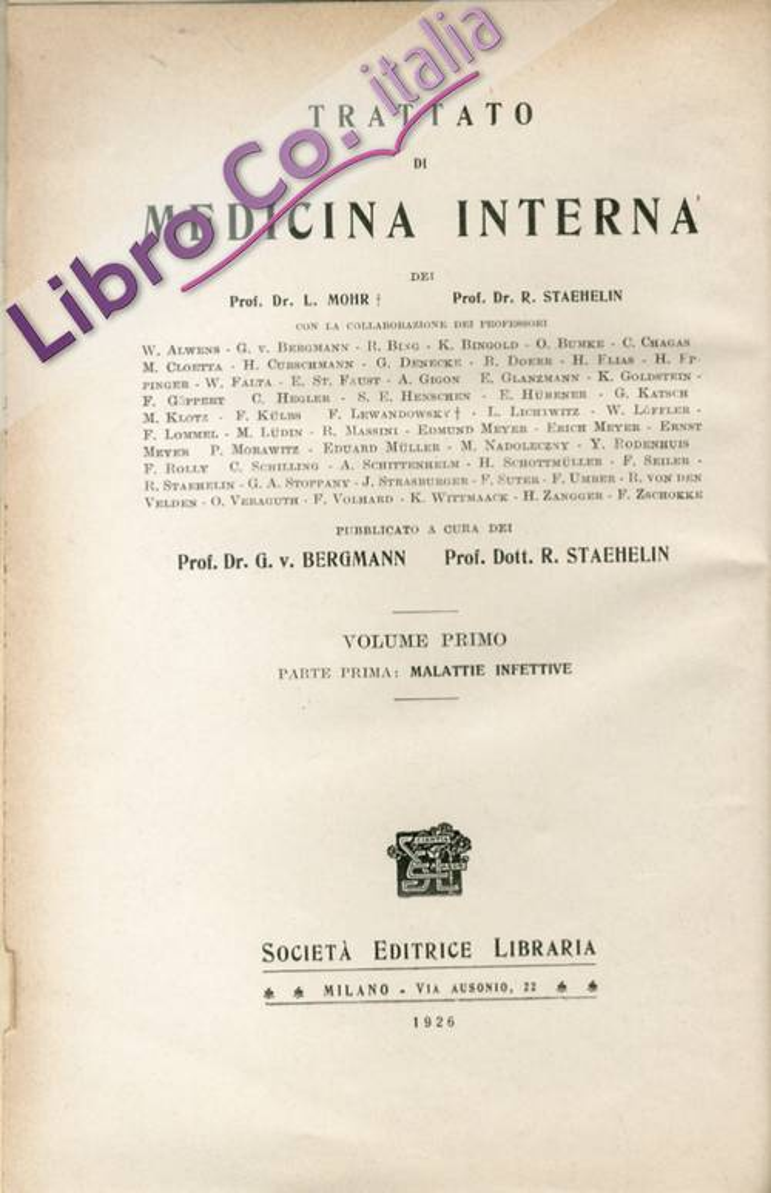 Trattato di Medicina Interna.