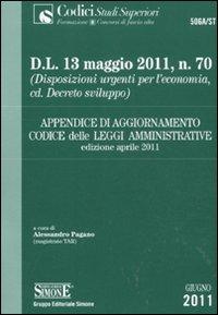 Appendice di aggiornamento al codice delle leggi amministrative. Aprile 2011