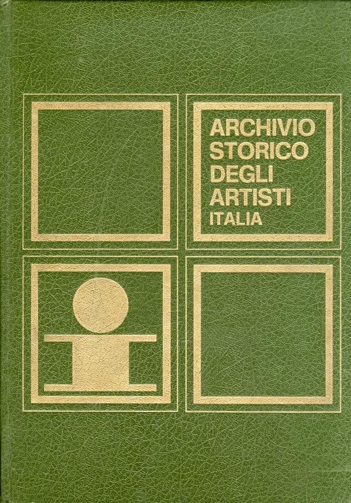Archivio Storico degli Artisti Italiani. Volume III