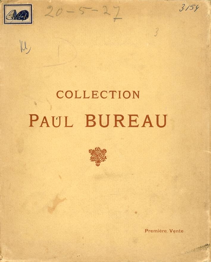 Catalogue des Tableaux Anciens et Modernes. Collection Paul Bureau
