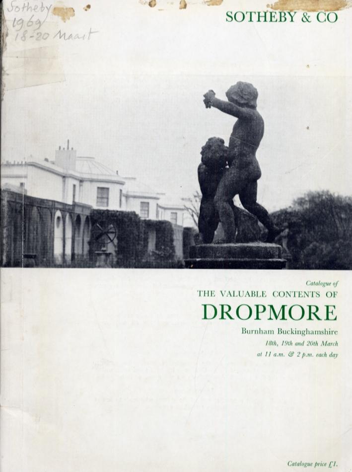 Catalogue of the Valuable Contents of Dropmore, Burnham, Buckinghamshire