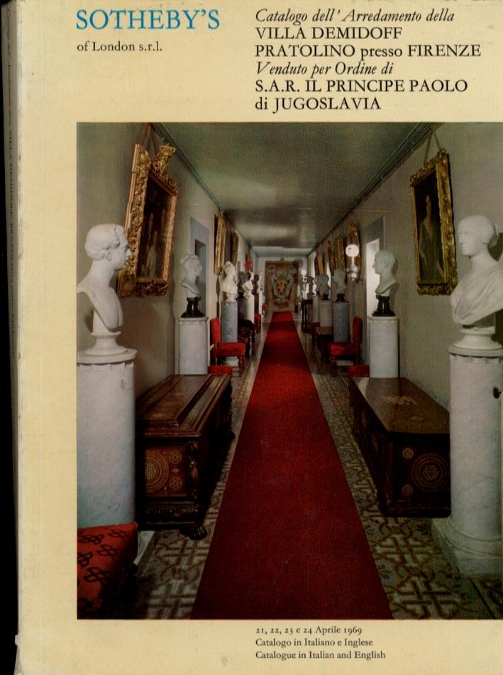 Catalogo di Quanto è Contenuto nella Villa Demidoff a Pratolino Presso Firenze Venduto per Ordine di S.a.r. Il Principe Paolo di Jugoslavia
