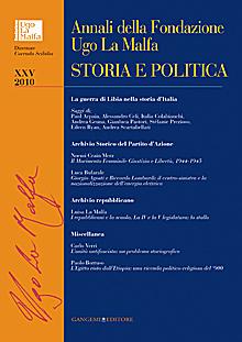 Annali della Fondazione Ugo La Malfa. Vol. 25