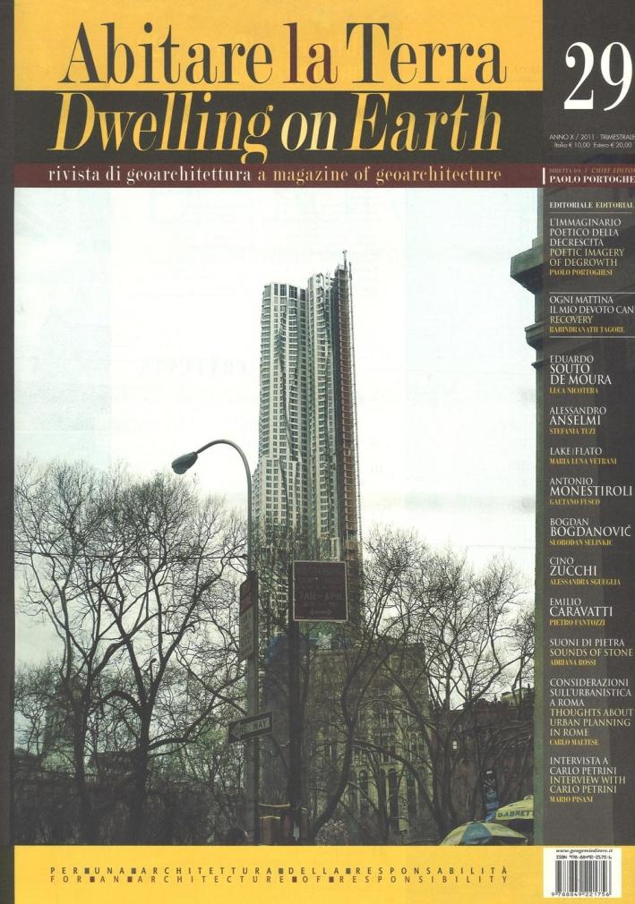 Abitare la Terra n. 29/2011. Dwelling on Earth