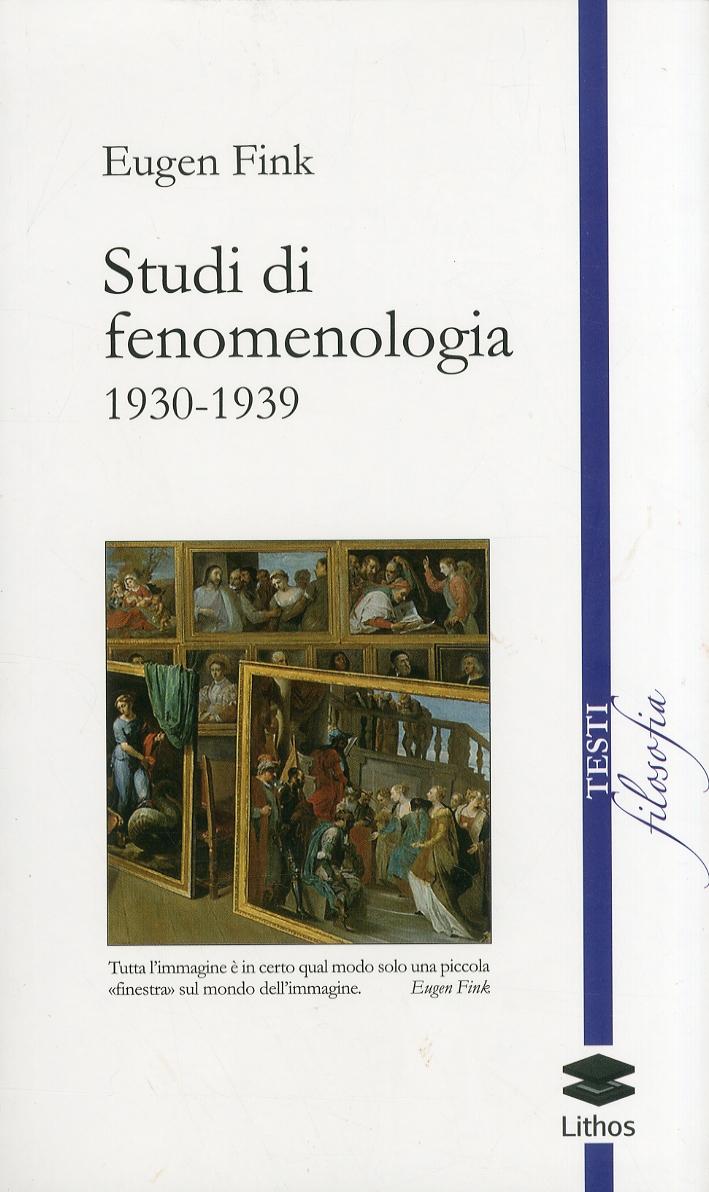 Studi di fenomenologia 1930-1939.