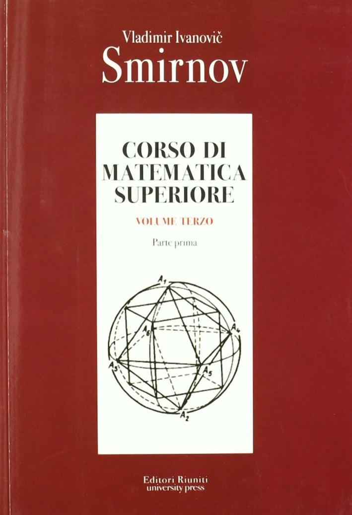 Corso di matematica superiore. Vol. 3/1