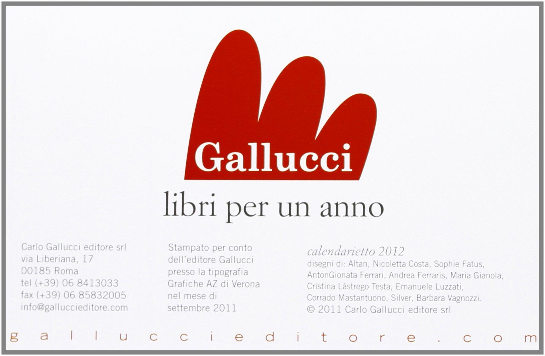 2012. Calendarietto
