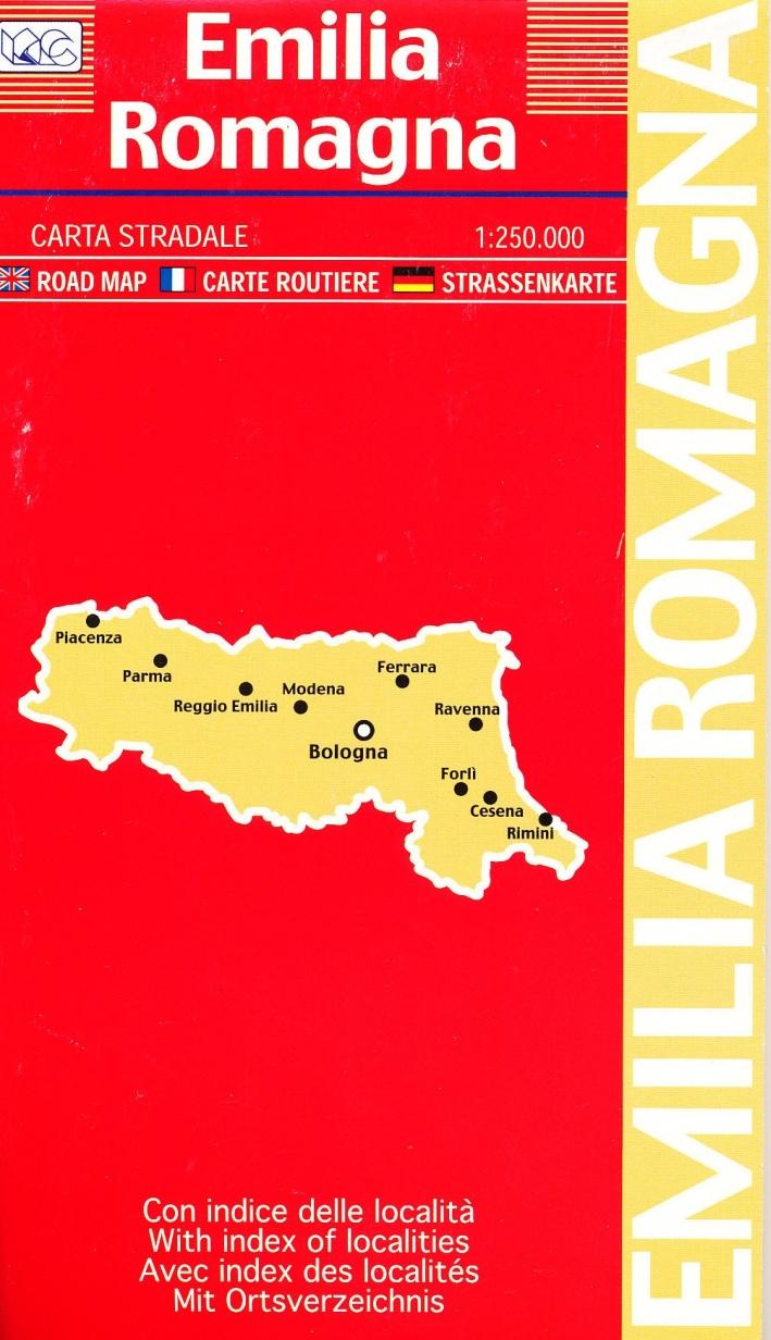 Emilia Romagna 1:250.000. Carta Stradale. Road Map. Carte Routiere. Strassenkarte. Mapa De Carreteras