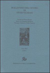 Bollettino del Centro di studi vichiani (2011). Vol. 41