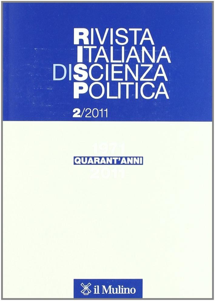 Rivista italiana di scienza politica (2011). Vol. 2