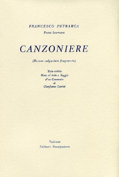 Canzoniere. Edizione del 7° Centenario 1304-2004
