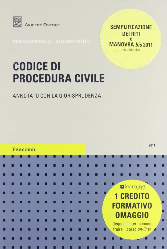Codice di procedura civile. Annotato con la giurisprudenza