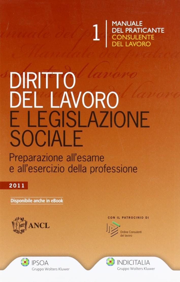 Diritto del lavoro e legislazione sociale preparazione all'esame e all'esercizio della professione