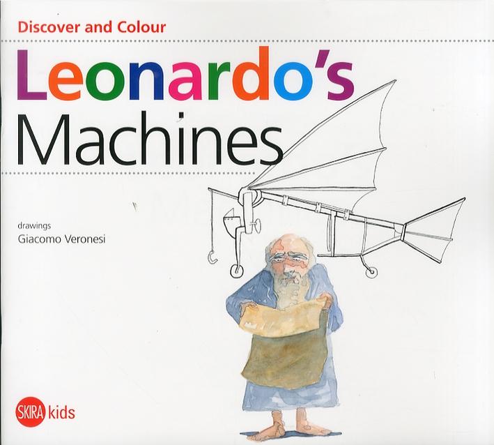 Discover and Colour. Leonardo's machines