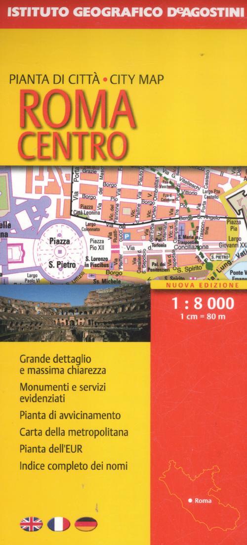 Roma centro 1:8.000. Ediz. multilingue