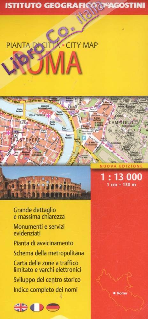 Roma 1:13.000. Ediz. multilingue