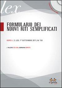 Formulario dei nuovi riti semplificati. Con CD-ROM