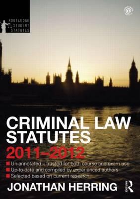 Criminal Law Statutes.